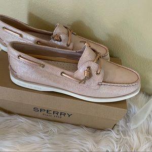 New sperry vida brushed metallic boat shoes